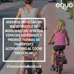 Cloti Cuéllar: Trabajando por  una movilidad sostenible todo el año